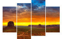 art monuments - LK467 Panels Modern Oil Painting Monument Valley Canvas Printing Decoration Unframed Landscape Oil Painting landscape oil painting art Wal