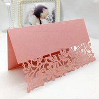 Wholesale 200pcs Floral Laser Cut Wedding Invitations Table Card Seat Card Place Card For Wedding Favors And Gifts x90mm