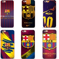 barcelona club football - FCB Barcelona football Club badge Series Transparent Phone Cases Covers Para Bag Capas For iPhone s s SE c S plus Plus Fundas