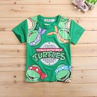 Wholesale 5Pcs New Kids Teenage Mutant Ninja Turtles Short Sleeve Cotton Children TMNT Baby Boys Tortoise Tees GI2181