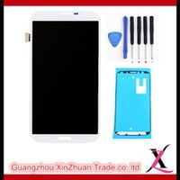 Cheap Cell Phone LCD Touch Panels LCD Display Touch Screen Full Assembly White For Samsung Galaxy Mega 6.3 i9200 i9205