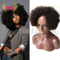 Wholesale Cheapest Afro Curly Wigs - Cheap Human Hair Wigs Afro Kinky Curly Brazilian Hair Afro Kinky Natural Black Human Hair None Lace Glueless For Black Women Wigs Celebrity