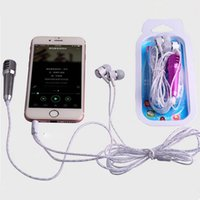 Wholesale Little Mini Mobile Phone Microphone For KARAOKE Handheld Wired Mini Mobile Phone Microphone with retail package