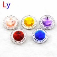 acrylic cones - 100Pcs Mix multicolor Polyhedral cone mm Button NOOSA Ginger Snap Charms Jewelry Interchangeable Jewerly Charms Pendants Necklace NR0021
