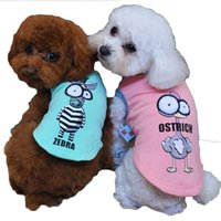 Wholesale Summer Big Eye Pet Dog Cat Sweater Puppy T Shirt Vest Hooded Coat Clothes Apparel