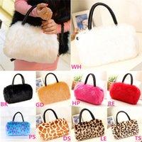 Wholesale New Arrivals Ladies Women s Shoulder Handbag Clutch Totes Hobo Bags Faux Fur Fashion CM BX113