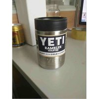 Wholesale 12oz Yeti Cups Cooler Stainless Steel YETI Rambler Tumbler Cup Car Vehicle Beer Mugs Double Wall Bilayer Vacuum Insulated New