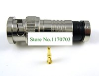 Wholesale 100 BNC Plug Crimp Connectors for RG58 RG59 Coax Male Antenna cable