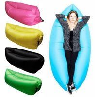 Wholesale 2016 Colors Fast Inflatable Lazy Sleeping Sofa Bed Festival Camping Hiking Travel Hangout Beach Bag Bed