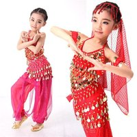Wholesale Big Sale Whole Set Belly Dance for Children Kids Performance Clothe Girls Belly Dance Costumes Price Belly Dancing Dress S XXL
