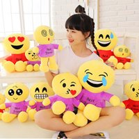 Wholesale And Retail So Cute Emoji Doll Made Of PP Cotton With Different Styles For Kids Cushion Doll Emoji Cushion Doll
