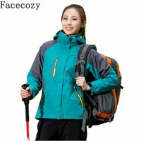 Wholesale Facecozy Women Winter Hooded Camping Hiking Jackets Windproof Climbing Jacket Outdoor Pieces Huting Fishing Jacket