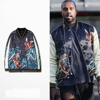bamboo coat stand - 2017 new brand kanye west HBA hip hop Europe and the United States street Bamboo tiger baseball uniform coat sweater cardigan thick jackets