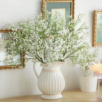 Wholesale 12pcs White Baby Breath Artificial Silk Flowers Gypsophila for Wedding Home Garden Decor Flower arranging Gift