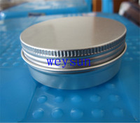 Wholesale 15g cosmetic aluminum jar ml metal tin for cream packaging container