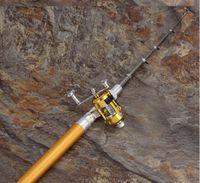 Fibra de carbono telescópica portátil España-1M portátil Mar telescópica caña de pescar de fibra de carbono del viaje de Spinning caña de pescar caña de pescar