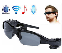 Wholesale Sport Sunglasses Bluetooth Headset Sunglass Stereo mp3 Bluetooth Wireless Sports Headphone Handsfree mp3 Music Player with retail