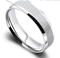 american brush - 6MM Brushed Polished Finish Classic Men s Pure Titanium Ring Wedding Engagement Band New All Size gde7