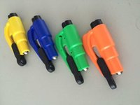 Wholesale 100pc in Car Window Glass Safety Emergency Hammer Seat Belt Cutter Tool Keychain