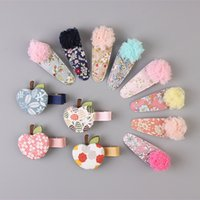 african fabric manufacturers - Korean children hairpin handmade fabric Floral hair ornaments lace chuck jewelry manufacturers