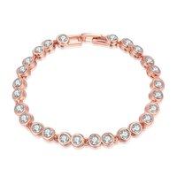 bar attachments - 2016 fashion beautiful elegant romantic simplicity rounded zircon attachment bar bracelets