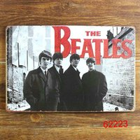 Wholesale THE BEATLES Tin Sign Bar pub home Wall Decor Retro Metal Art Poster People