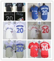 Wholesale Majestic - 2016 Majestic Official Cool Base MLb Stitched 40th Toronto Blue Jays 20 Josh Donaldson White BLue Red Gray Black Jerseys Mix Order