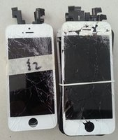 apple iphone recycling - Factory refurbished damaged borken lcd assembly original iphone recycle touch screen