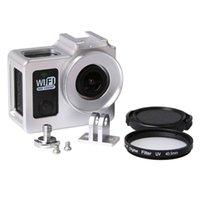 Wholesale Universal Aluminum Alloy Protective Case for SJCAM SJ4000 Wifi Wifi SJ7000 Sport Action Camera mm UV Filter Protective Cap