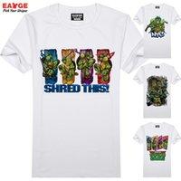 teenage fashion - EATGE Top Cool TMNT T Shirt Teenage Mutant Ninja Turtles Design T shirt Fashion Cool Brand Pattern Tshirt Men Women Tee