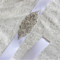 Wholesale 2016 New Wedding Dresses Sash Bridal Belts Rhinestone Crystal Ribbon Tie Back Cheap Bridal Accessories Princess Handmade Fashion