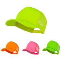 trucker mesh foam cap - Summer Foam Mesh Trucker Cap solid blank outdoor baseball golf hat neon color BH