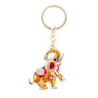 auto thailand - Thailand Lucky Gold Elephant Lovely Charm Pendant Crystal Set Auger Keyring Chain Auto Accessories Creative Gift