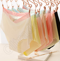 beautiful drawers - Female Ice Silk Non trace Underwear Sexy Waist Pure Color Of Beautiful Buttock Women Triangle Pair Of Drawers Colors LJJQ106