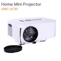 Wholesale UNIC UC30 Home Mini Projector Computer Phone Mini Portable Projector HD Home Theatre