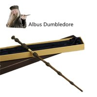 albus dumbledore wand - New Metal Core Albus Dumbledore Magic Wand Harry Potter Magical Wand High Quality Gift Box Packing