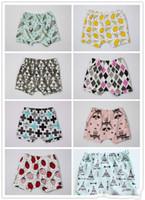 Wholesale Summer INS Baby Kids Shorts Adorable Bloomers Harem Pants Infant Toddlers Cotton Fox Tent Lemon Feather Short Trousers Boys Girls Pants
