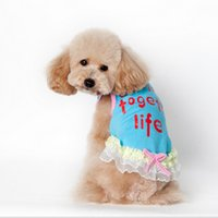 Wholesale Cat Cute Vest Colorful Sleeveless Pet Clothing With Lace Puppy Cute Capatial Printed Custume GP160327