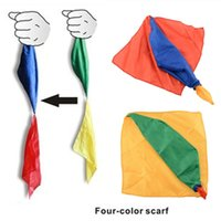 Wholesale 2016 Hot New Change Color Silk Scarf For Magic Trick By Mr Magic Joke Props Tools Toys Gift Randomly