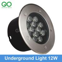 оптовых 12v led garden light-12W привели подземных свет 12V IP67 водонепроницаемый Первый Led лампы Похоронен проекта Дизайновое освещение Engineering свет Открытый Сад Шаг Свет