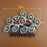 Wholesale Bridal Wedding Hairpins Clear Rhinestone Crystals Hair Comb Women Hair Jewelry Accessories The children s crown S HG905