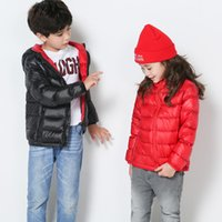 baby bump - 2016 kids clothes Children put down jacket thin section cuhk children s hooded men and women baby bump color coat