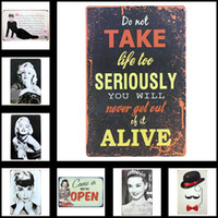 Wholesale Tin Signs for Bar Cafe Hotel Decoration Wall Mural Metal Painting X30cm X11 in