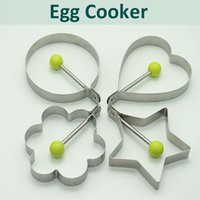 Wholesale Egg Poacher Rings Stainless Steel Set of Make Cooking Perfect Pancakes Burgers Omelettes Benedict Eggs Fried Egg Cooker Round Molds