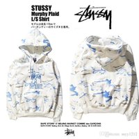 tie dye hoodies - Stussy And Sophnet Hooded Sweatshirts Embroidery Tie Dye Pullover Sweatshirts Recreational Men Woman Hoodies Sweatshirts Autumn Winter New