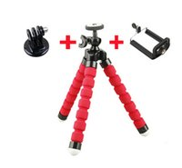 Wholesale Flexible Octopus Tripod Bracket Stand Mount phone holder adapter for Gopro Hero and mobile phone stand