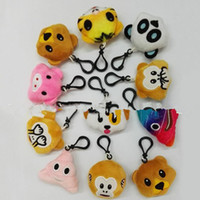 big monkey plush - Emoji Plush Animal Keychains Key Ring Pendants Plush Soft Doll Monkey Pig Panda Phone Pendents cm PPA62