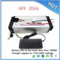 Cheap ebike lithium battery 48v 20ah lithium ion bicycle 48v electric scooter battery for kit electric bike 1000w with BMS and 2a Charger