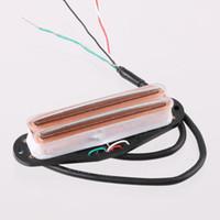 Wholesale Low Noise Dual Coil Single Pickup Twin Blade Pole Piece Pickup Transparent