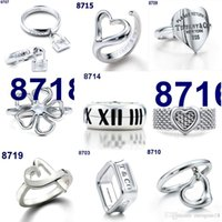 Wholesale 2016 Hot sterling silver tiffany jewelry ring Necklace for women Bracelet Earrings ring classic Harmonicas with original box